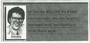 Brad Bartz on wall street journal